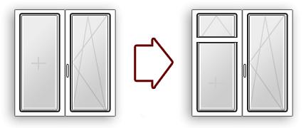 изменение конфигурации окна пвх